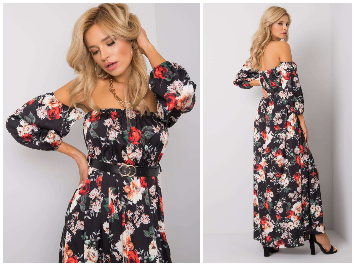 Сукня для груші з іспанським декольте в магазині ebutik.com.ua